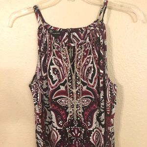 INC Macy's Purple & Red  Halter Dress Size Medium